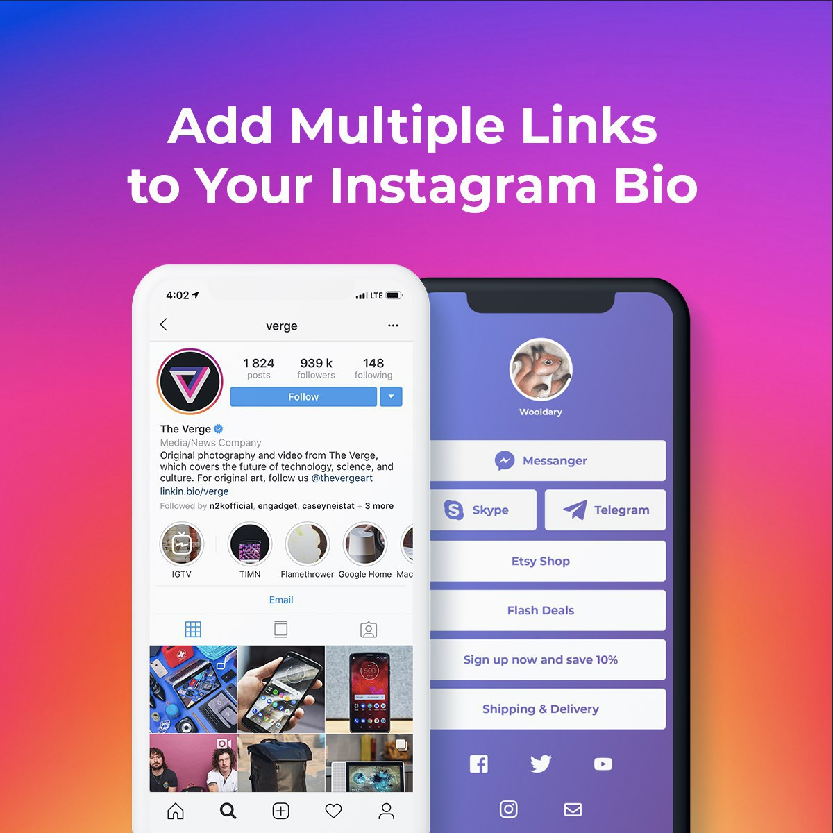 Supercharge Your Instagram Bio Link!